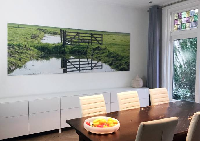 Foto achter acrylaat grootformaat